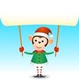 Monkey 2016 christmas new year banner vector image