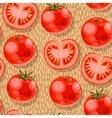 Seamless tomato vector image vector image