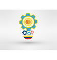 Light bulb icon low poly style Idea icon origami vector image