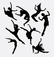 Contemporary dancer pose silhouette vector image