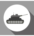 Military tank design vector image