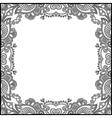 black and white floral vintage frame vector image