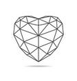 black triangular heart icon vector image