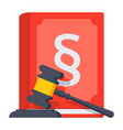 concept of jurisprudence vector image