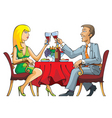 dating couple vector image