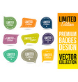 Limited Edition Logo Badge Emblem vector image
