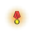 Medal comics icon vector image