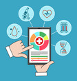 remote medical care mobile healthcare vector image