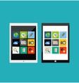 Tablet apps responsive flat ui design vector image