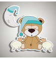 teddy sleeping design vector image