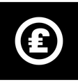 The pound sterling icon Cash and money wealth vector image
