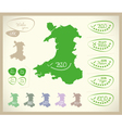 Bio Map UK Wales vector image