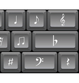 Musical notes keyboard vector image vector image