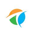 circle business finance arrow vector image