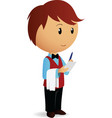 cartoon waiter take an order vector image