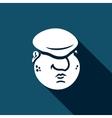 Cartoon immigrant head icon vector image