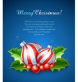 christmas decoration of ball vector image