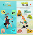 exercise equipment banners vector image