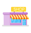 Flat style of shop Web icon vector image