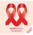heart disease ribbon vector image
