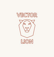 linear lion symbol vector image