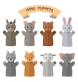 set of hand puppets in flat style Doll vector image