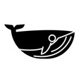 whale icon black sign on vector image