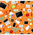 Business supplies and equipment seamless vector image