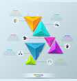 infographic design template with 6 separate vector image