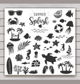 summer vintage silhouettes vector image