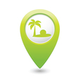 beach icon green map pointer2 vector image