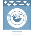 fish menu vector image vector image