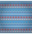 Tribal ethnic seamless stripe pattern on blue vector image