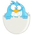 Blue Bird In Egg vector image