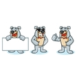 Bulldog Mascot happy vector image