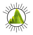 big mountain isolated icon vector image