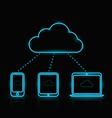 Blue Neon Cloud vector image