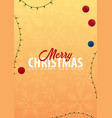 christmas background winter vector image