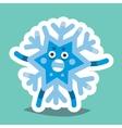 Emoticon Icon Happy New Year Snowflake vector image