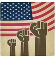 fist independence symbol American flag old vector image