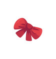 flat festive fancy bowtie isolated vector image