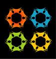 Fractal design element or banner for web vector image