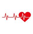 Heartbeat icon vector image