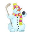 snowman cartoon vector image