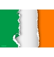 design flag ireland from torn papers with shadows vector image vector image