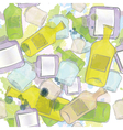 Jars and bottles seamless pattern vector image vector image