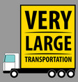 commercial vehicle background very large van for vector image