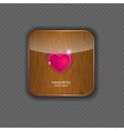 Heart wood application icons vector image vector image