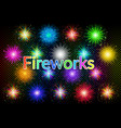 holiday fireworks set vector image vector image