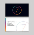 business-card-number-7 vector image vector image